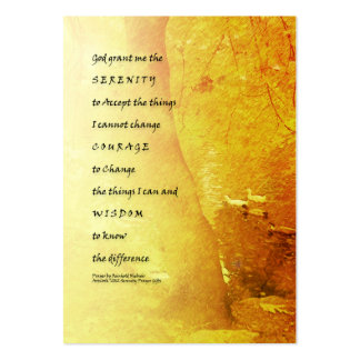 Serenity Prayer Tree and Ducks Large Business Card