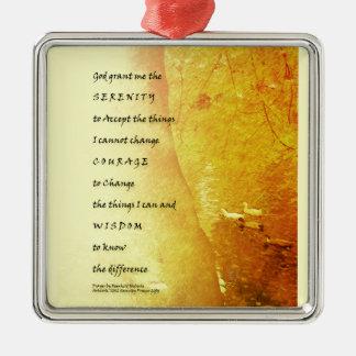 Serenity Prayer Tree and Ducks Metal Ornament