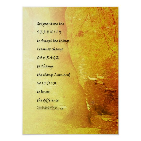 Serenity Prayer Tree and Ducks Poster