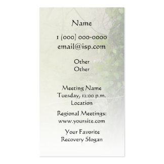Serenity Prayer Tree and Gully Business Card