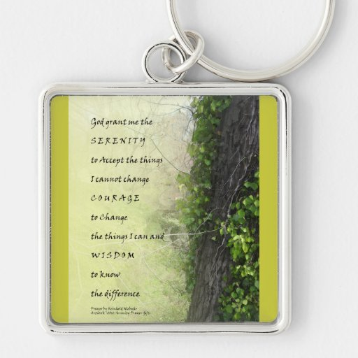 Serenity Prayer Tree and Gully Keychains