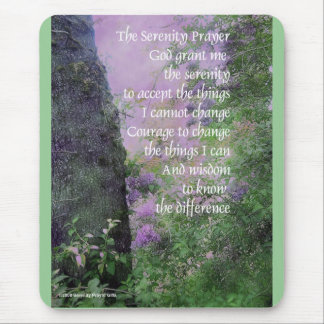Serenity Prayer Tree and Lilacs Mouse Pad