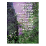 Serenity Prayer Tree and Lilacs Postcard