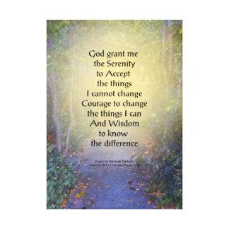Serenity Prayer Tree Canopy Canvas Print
