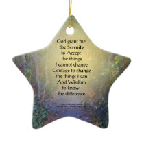 Serenity Prayer Tree Canopy Ceramic Ornament