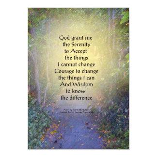 Serenity Prayer Tree Canopy 5x7 Paper Invitation Card