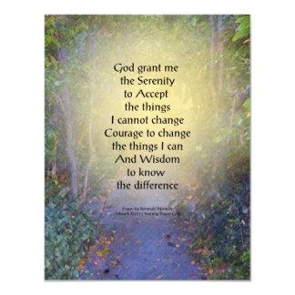 Serenity Prayer Tree Canopy 4.25x5.5 Paper Invitation Card