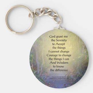 Serenity Prayer Tree Canopy Key Chain