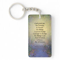 Serenity Prayer Tree Canopy Keychain