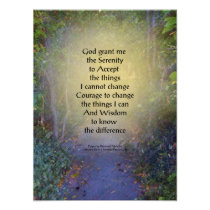 Serenity Prayer Tree Canopy Poster