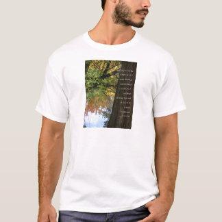 Serenity Prayer Tree & Pond Autumn T-Shirt