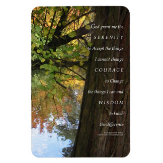 Serenity Prayer Tree & Pond Premium Flexi Magnet