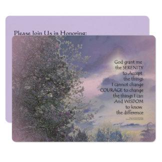 Serenity Prayer Tree Sky Glow Card