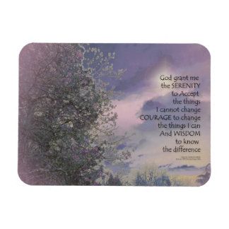 Serenity Prayer Tree Sky Glow Magnet