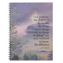 Serenity Prayer Tree Sky Glow Spiral Notebook