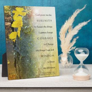 Serenity Prayer Tree Trunk Plaque