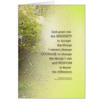 Serenity Prayer Tree Yellow Green