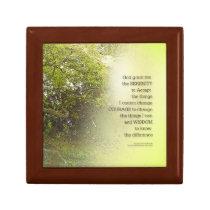 Serenity Prayer Tree Yellow Green Gift Box