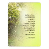Serenity Prayer Tree Yellow Green Invitation