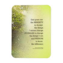 Serenity Prayer Tree Yellow Green Magnet