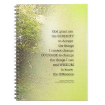 Serenity Prayer Tree Yellow Green Notebook
