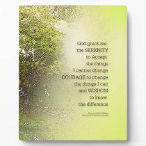Serenity Prayer Tree Yellow Green Plaque
