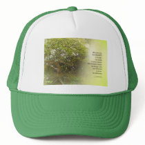 Serenity Prayer Tree Yellow Green Trucker Hat