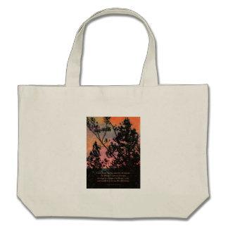 Serenity Prayer Trees and Sky Canvas Bag