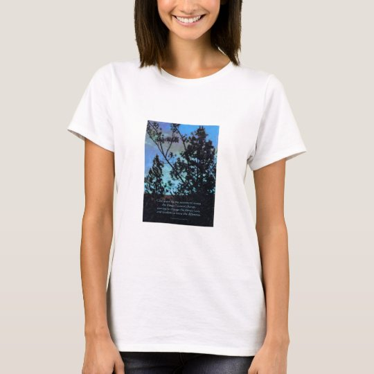 Serenity Prayer Trees and Sky Blue T-Shirt