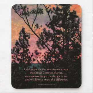 Serenity Prayer Trees and Sky Mouse Pad