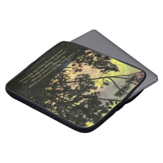 Serenity Prayer Trees and Sky Yellow Green Computer Sleeve