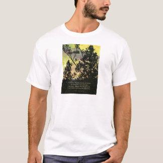 Serenity Prayer Trees and Sky Yellow Green T-Shirt