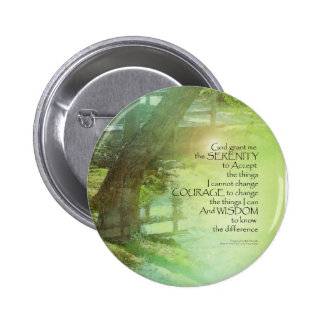 Serenity Prayer Trees, Water, Bridge Button