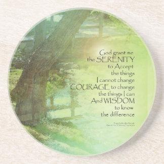 Serenity Prayer Trees, Water, Bridge Coaster