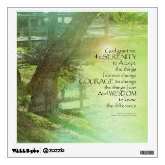 Serenity Prayer Trees, Water, Bridge Wall Sticker
