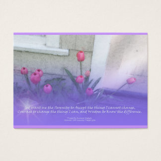 Serenity Prayer Tulips Profile Card