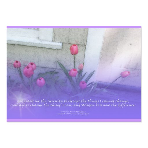 Serenity Prayer Tulips Profile Card Large Business Cards (Pack Of 100)