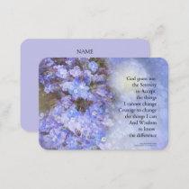 Serenity Prayer Veronica Business Card