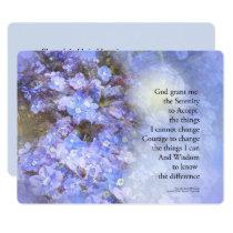 Serenity Prayer Veronica Invitation