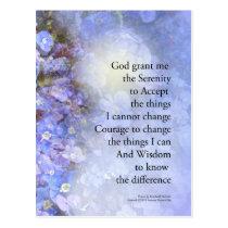 Serenity Prayer Veronica Postcard