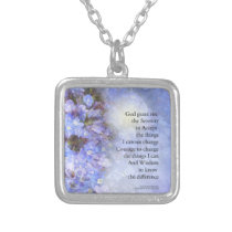 Serenity Prayer Veronica Silver Plated Necklace