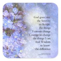 Serenity Prayer Veronica Square Sticker