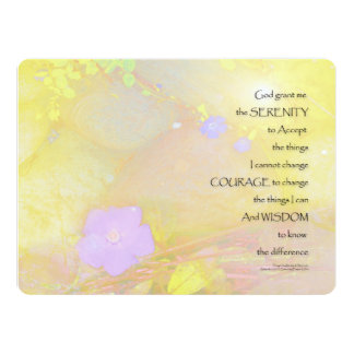 Serenity Prayer Vinca and Stones Card
