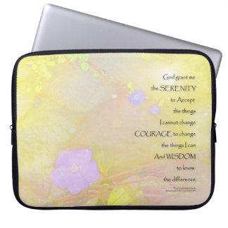 Serenity Prayer Vinca on Stones Laptop Computer Sleeves