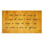 Serenity prayer vintage sharing Card