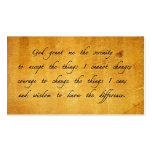 Serenity prayer vintage sharing Card Double-Sided Standard Business Cards (Pack Of 100)