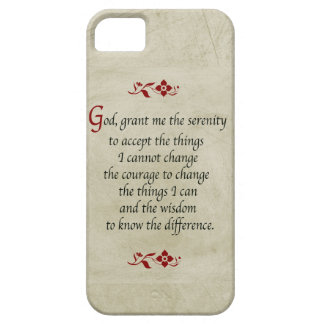 Serenity Prayer-Vintage Style+Burgundy Accents iPhone 5 Cases
