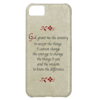 Serenity Prayer-Vintage Style+Burgundy Accents iPhone 5C Cover