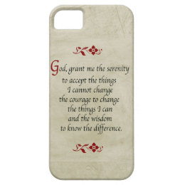 Serenity Prayer-Vintage Style+Burgundy Accents iPhone SE/5/5s Case