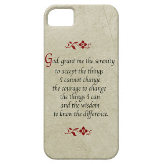Serenity Prayer-Vintage Style+Burgundy Accents iPhone SE/5/5s Case